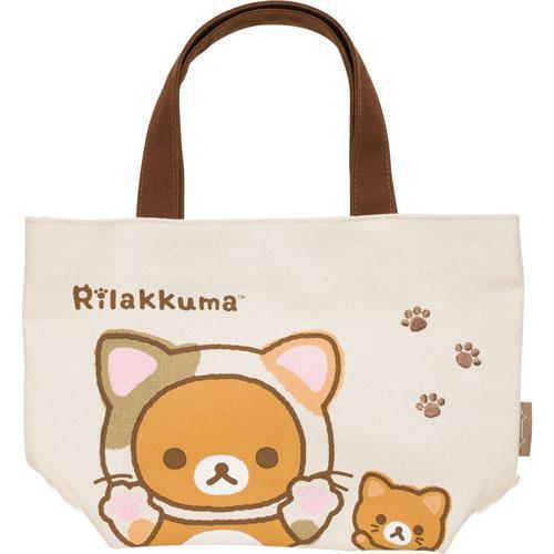 【リラックマ】 ミニトートバッグ 【もっと♪のんびりネコ】