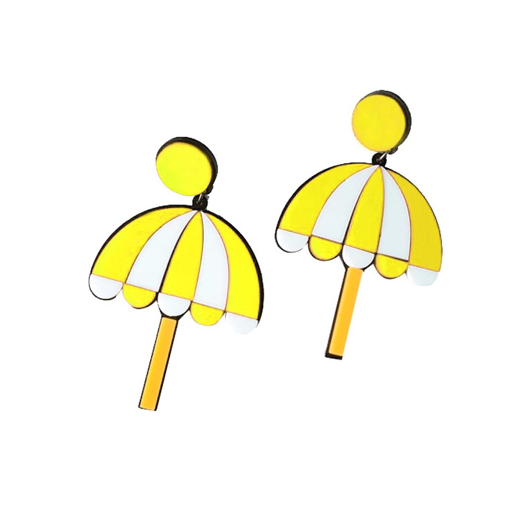 IUHA 【ユニークシリーズ】ゆらゆら傘モチーフのピアス 可愛い耳飾り おしゃれ パーティー プレゼント   iuha1991710021