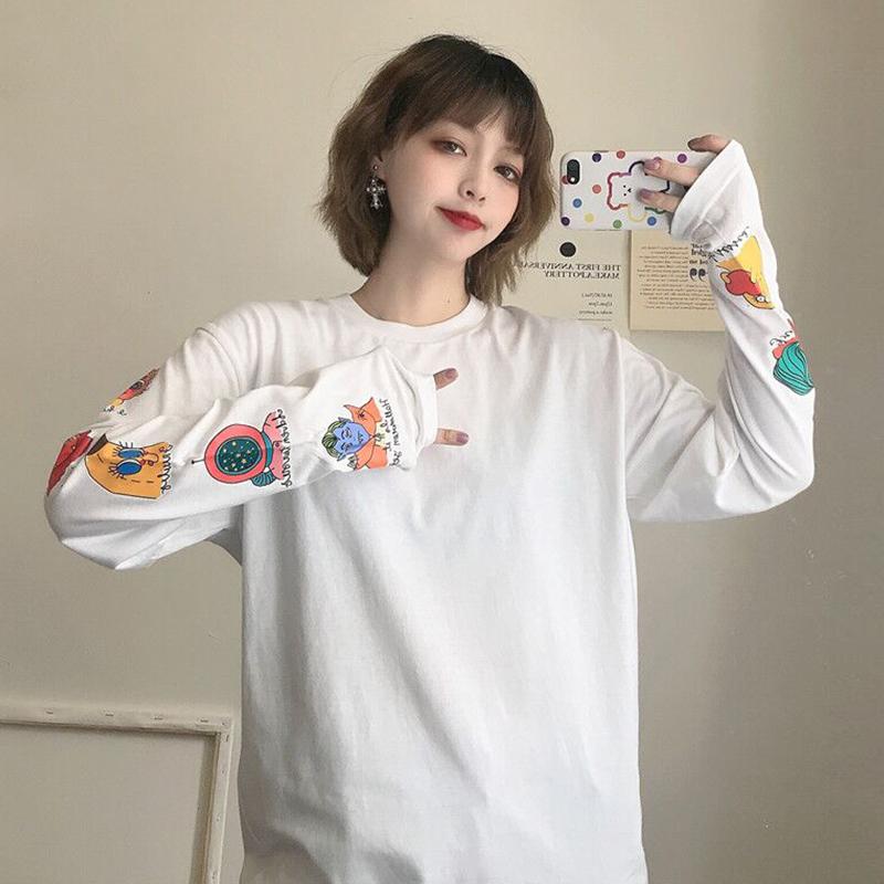 【tops】プリントシンプルラウンドゆるりラックスネックTシャツ25204768