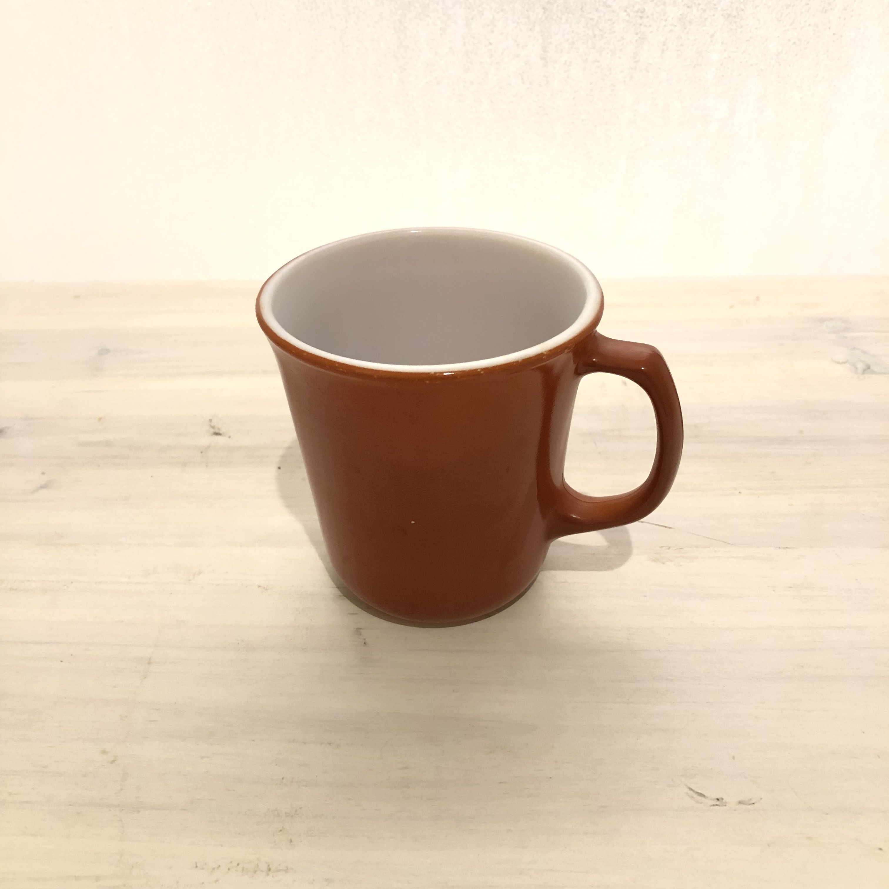 Old PYREX red-brown mug