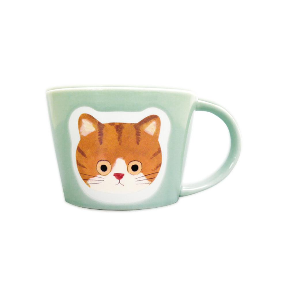 猫マグカップ(エクートミネットフェイスマグ)ちゃしろ