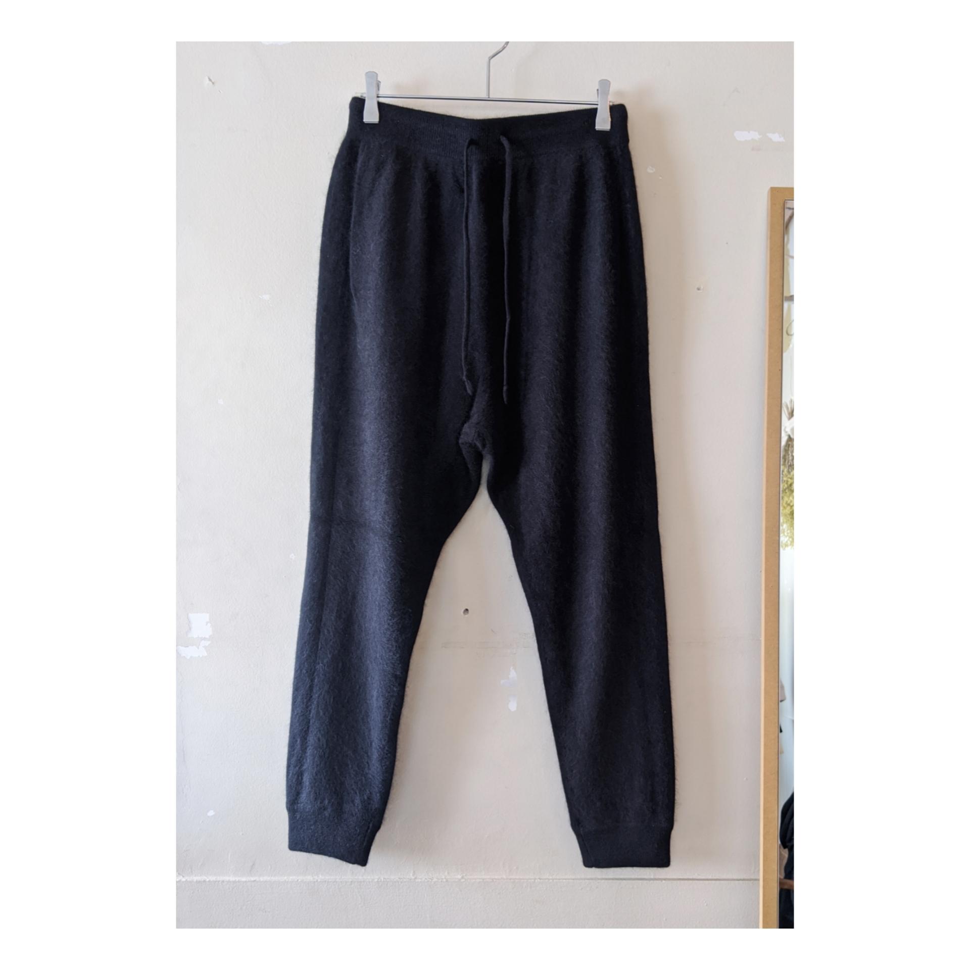 【 C.T.plage 】シーティープラージュ  /  raccoon wool × cashmere knit pants / ニットパンツ / BLACK