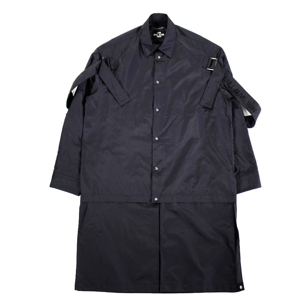 ALMOSTBLACK Nylon Shirt Black