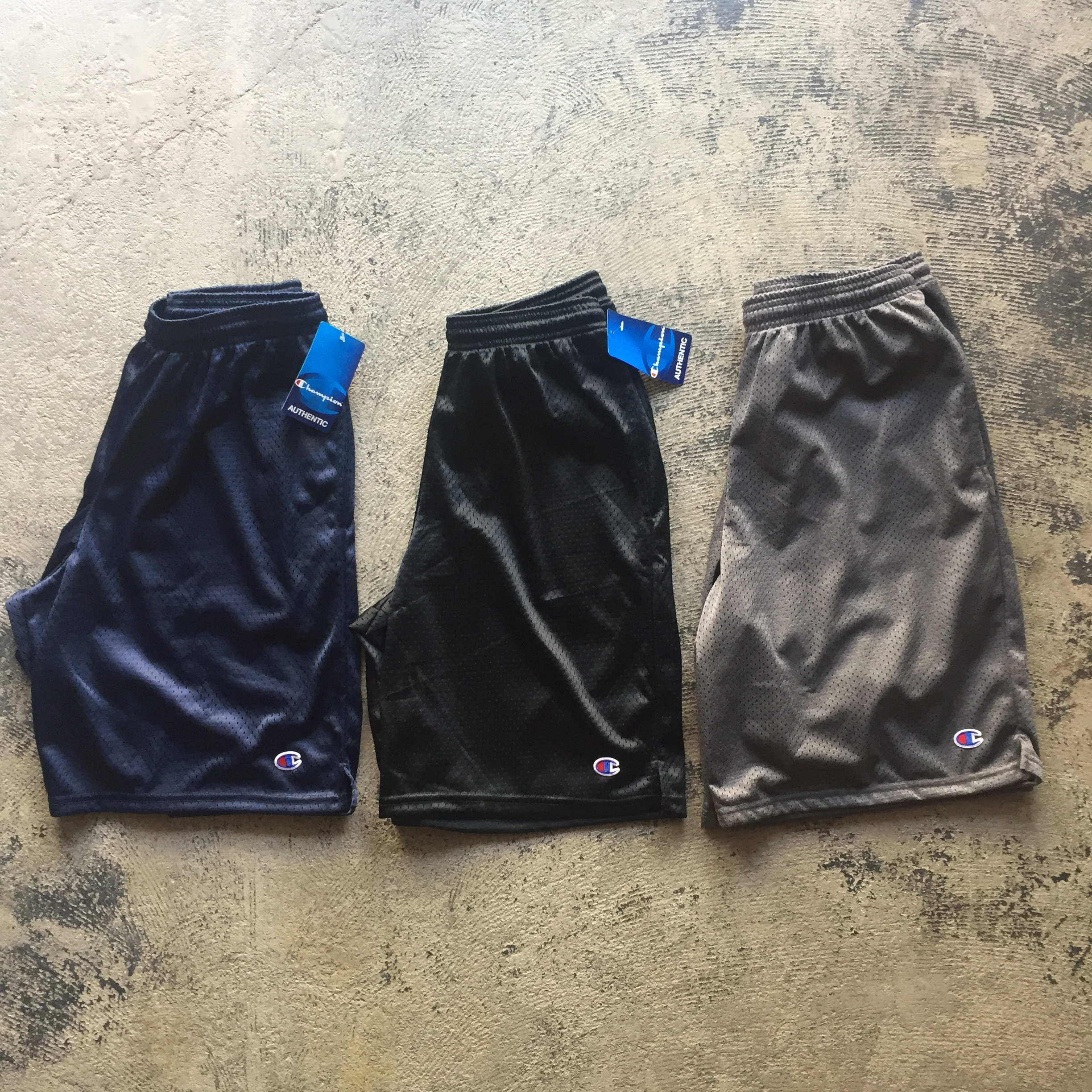 US企画 Champion Authentic Long Mesh Short Pants