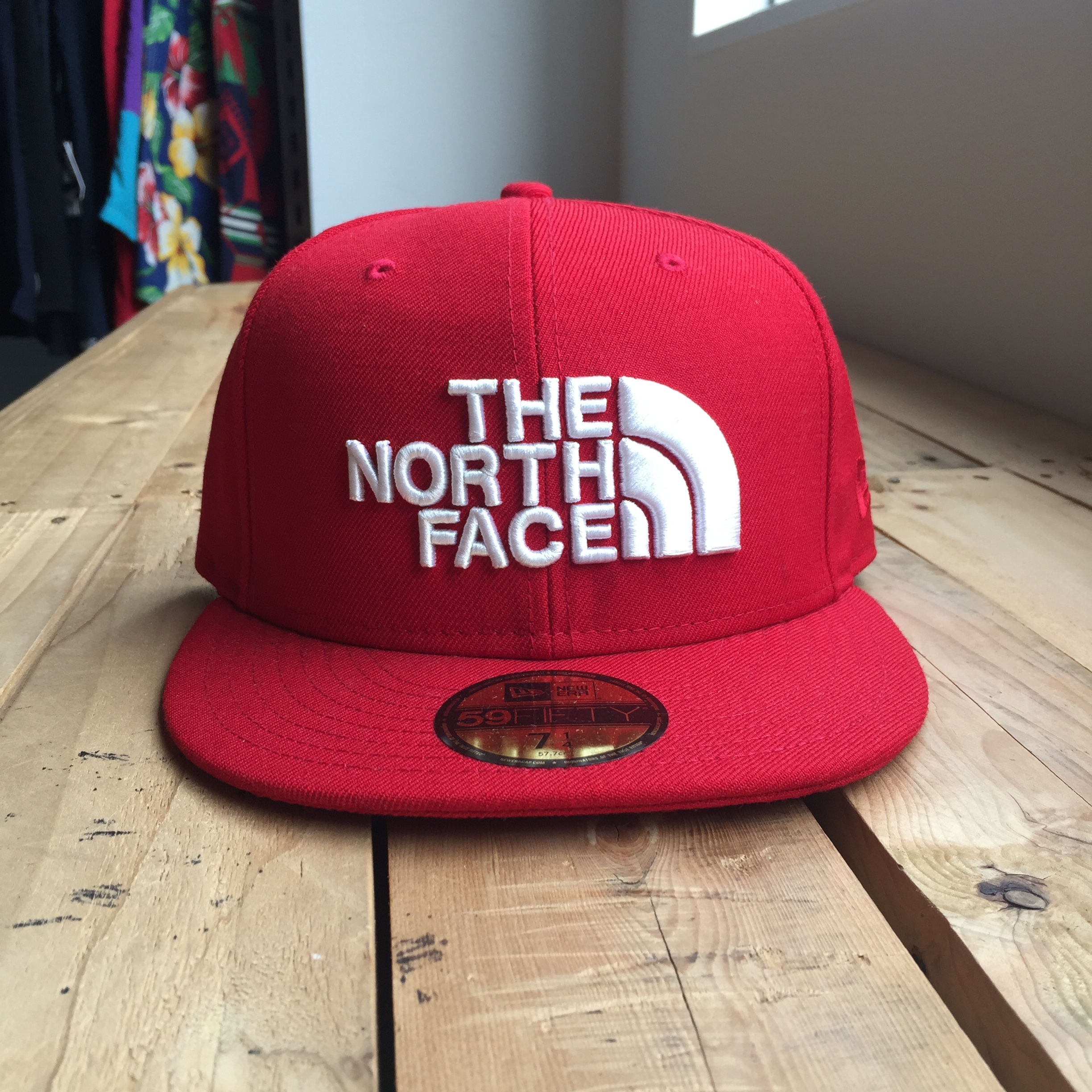 USストア限定 The North Face x New Era Half Dome Logo Wool Cap Red