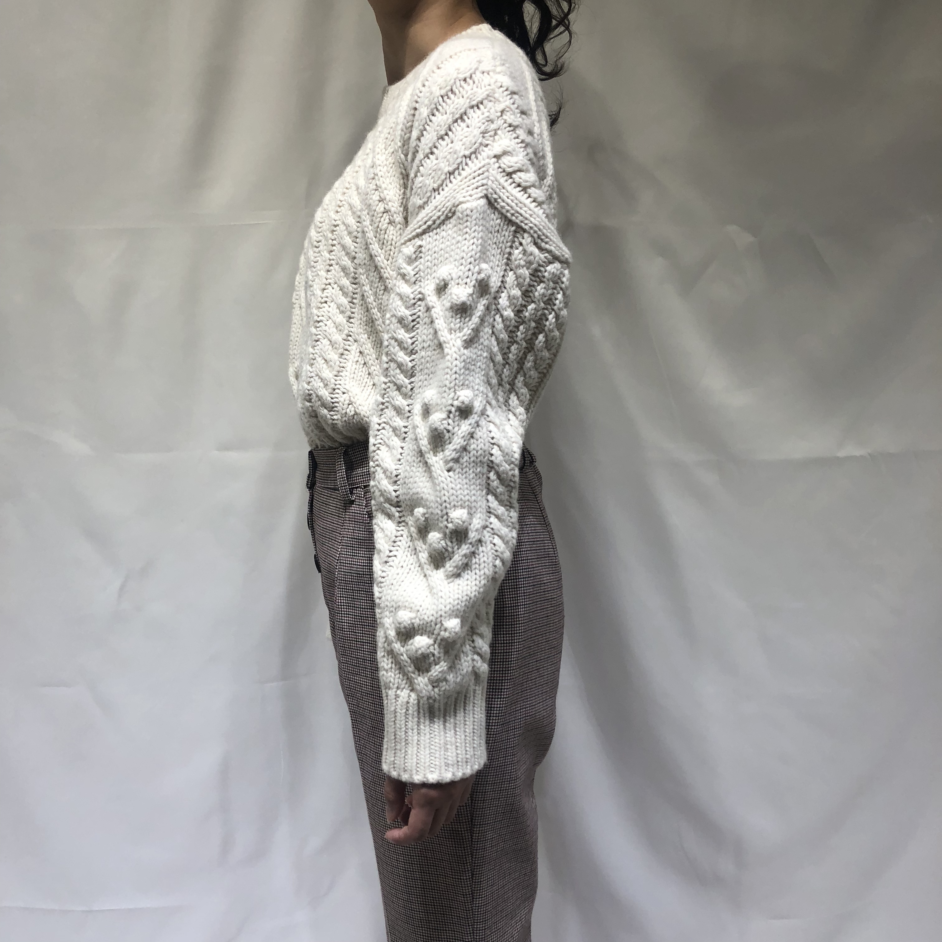 cable knit milky