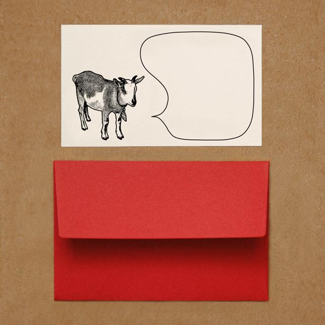 封筒つきメッセージカード(ヤギ)