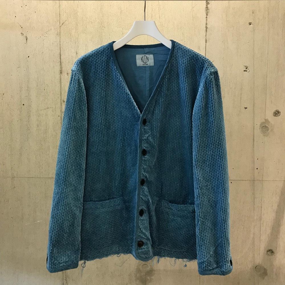 KUON No Collar Jacket  藍染