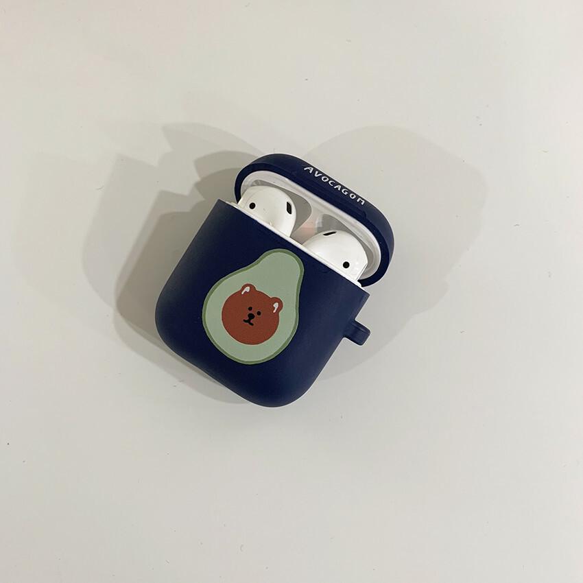 [OA-01] アボカゴム AirPodsケース(ブルー)
