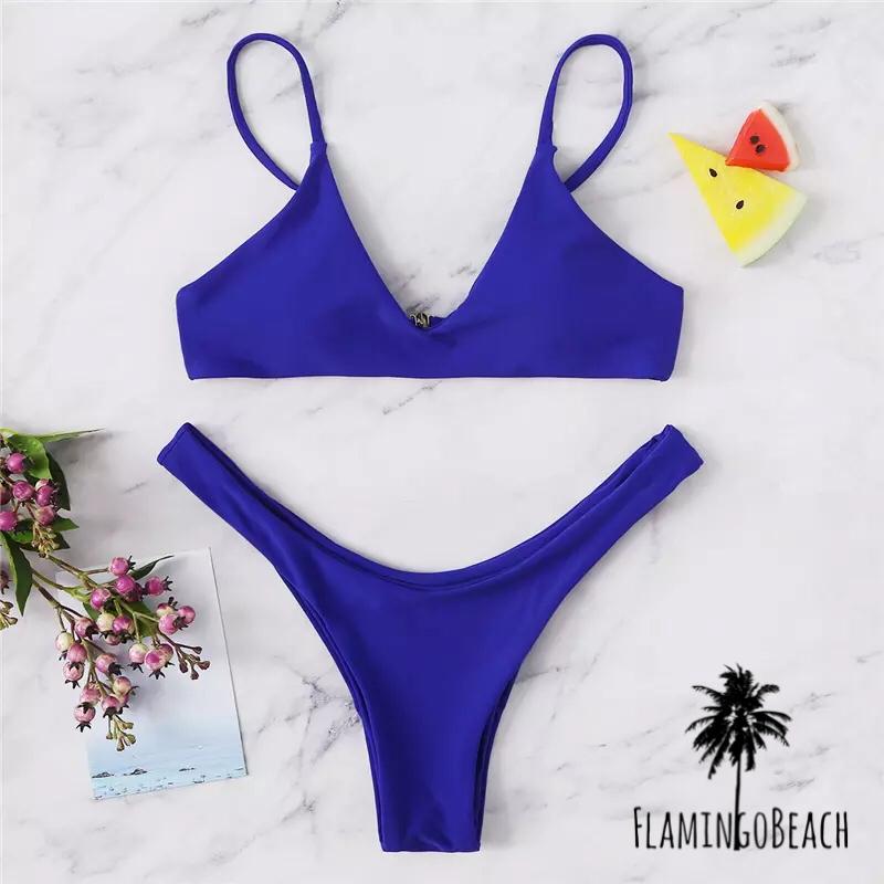 【FlamingoBeach】blue Brazilian bikini ビキニ