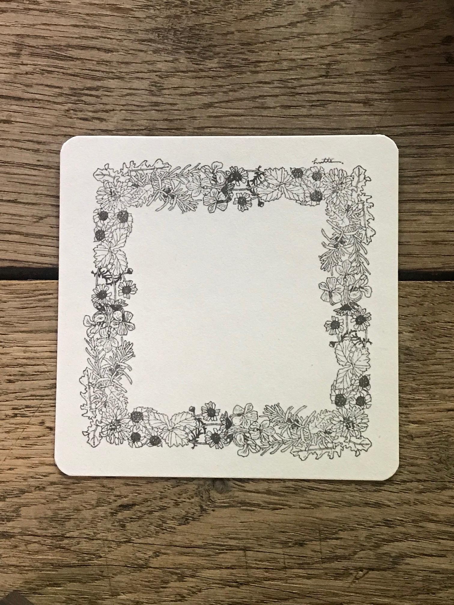<HUTTE.>野の花 スクエアカード 3枚セット