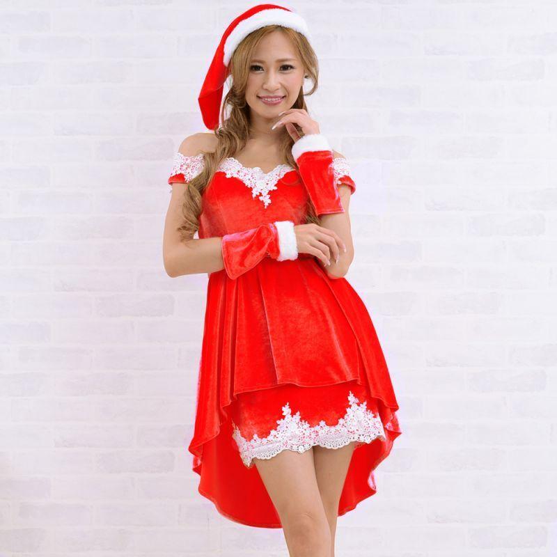 makecat【即納】 4点セット 花魁サンタコスチューム クリスマス サンタ衣装 仮装 コス 激安 5016
