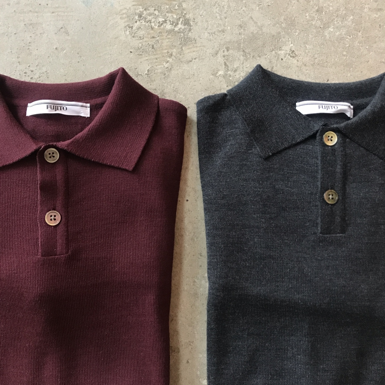 FUJITO - L/S Knit Polo Shirt