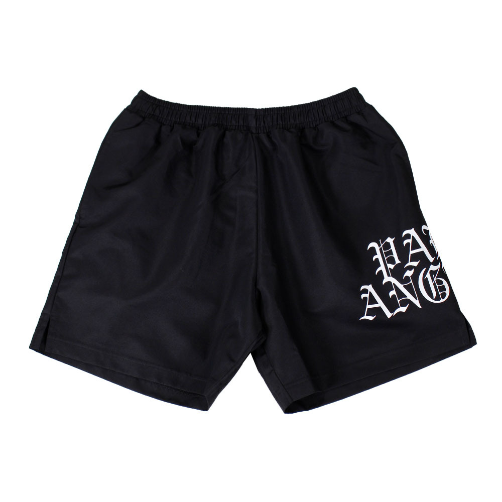 PALM ANGELS Hue Gothic Logo Shorts Black