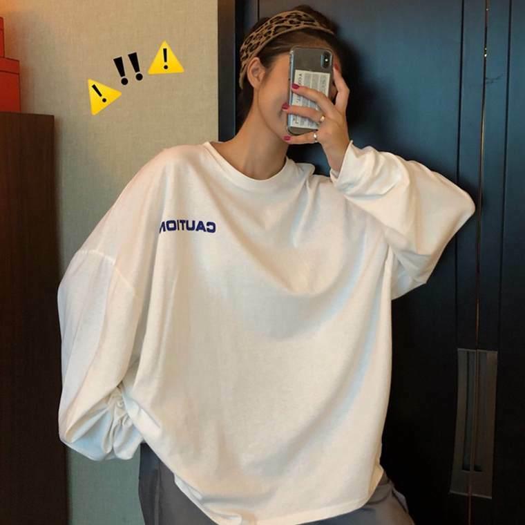 【送料無料】オーバーサイズ な ロンT ♡ カジュアル メンズライク プリント Tシャツ カットソー