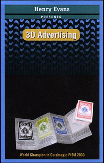 3Dアドバタイジング  3D Advertising まるでセ〇?広告からトランプが出現(≧▽≦)