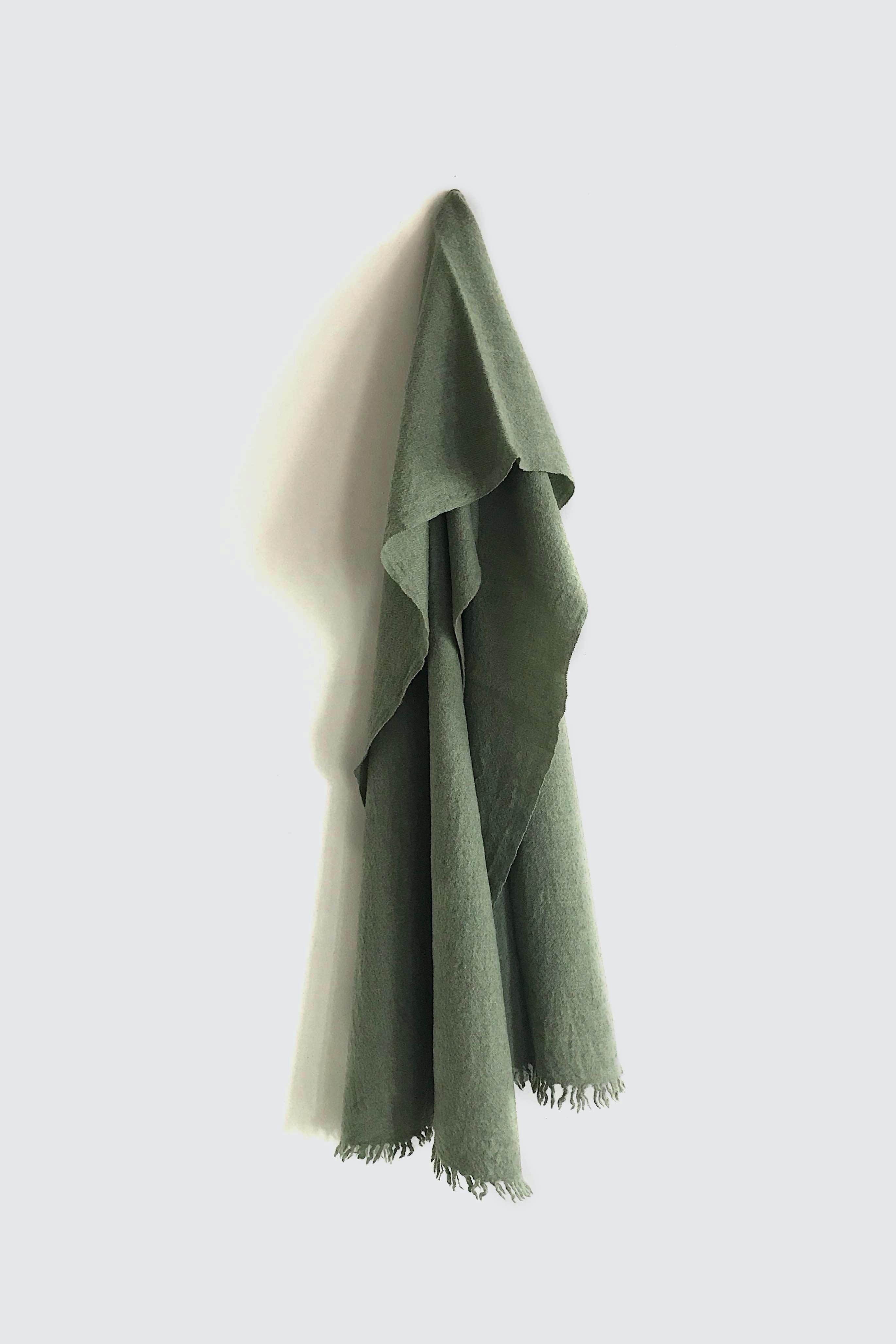 01474-3 muji muffler / green