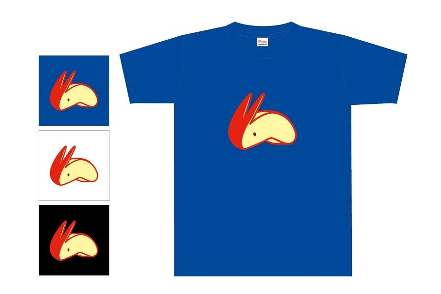geenecco(じーねっこ) リンゴうさぎ Tシャツ
