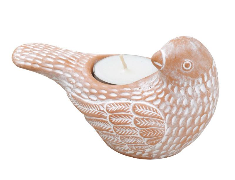 素焼きキャンドルホルダー・平和の鳥