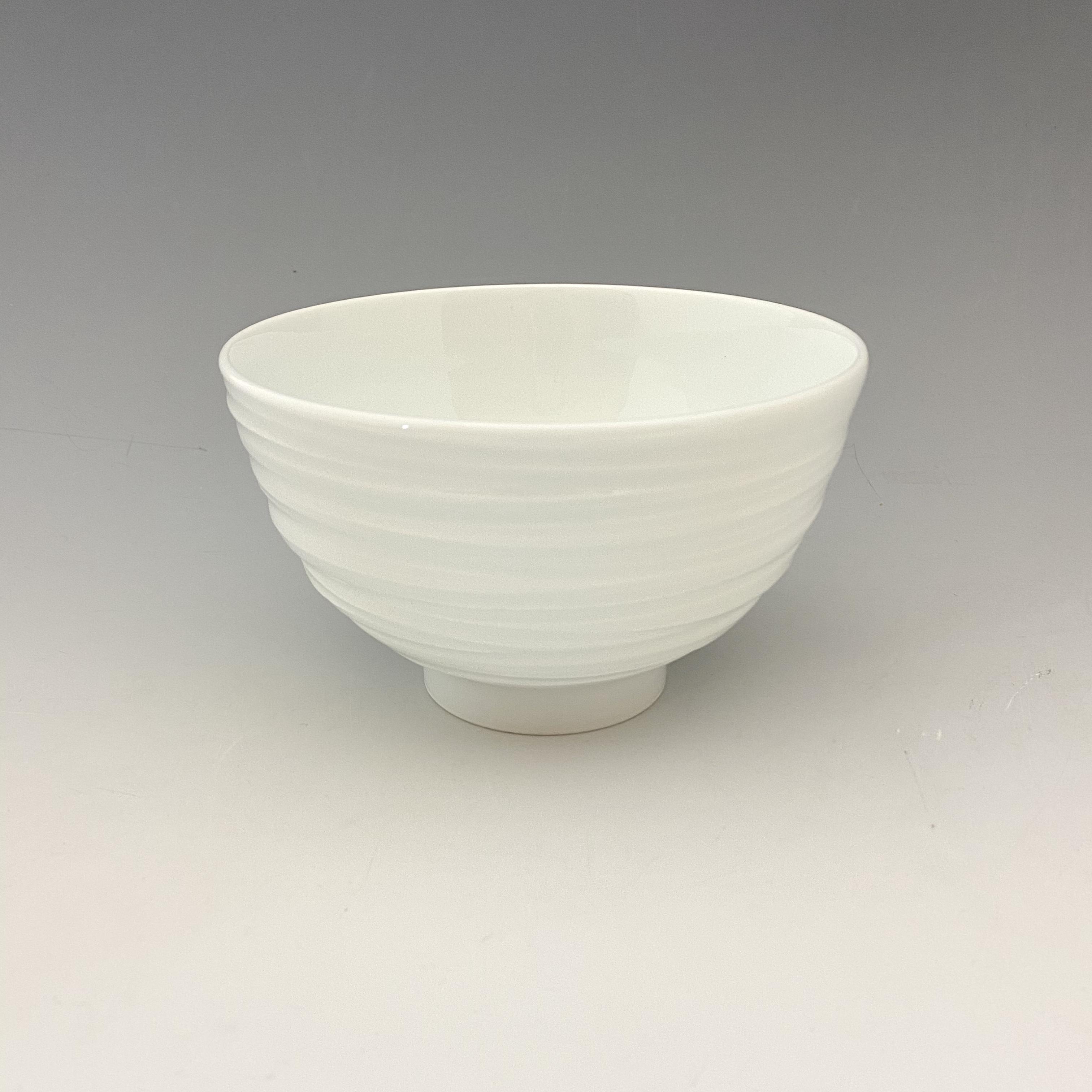 【中尾純】白磁線彫碗(大)