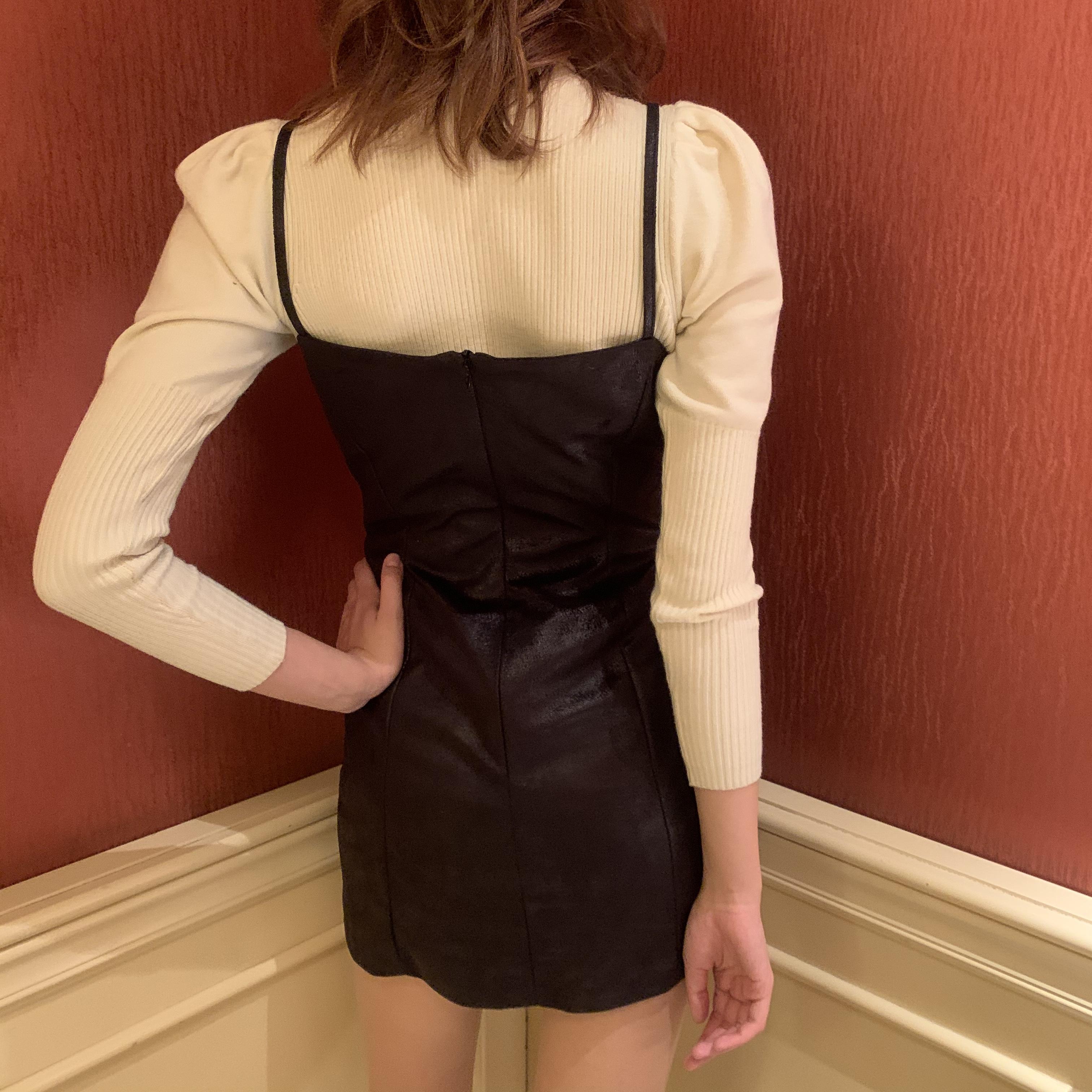 leather cami one-piece