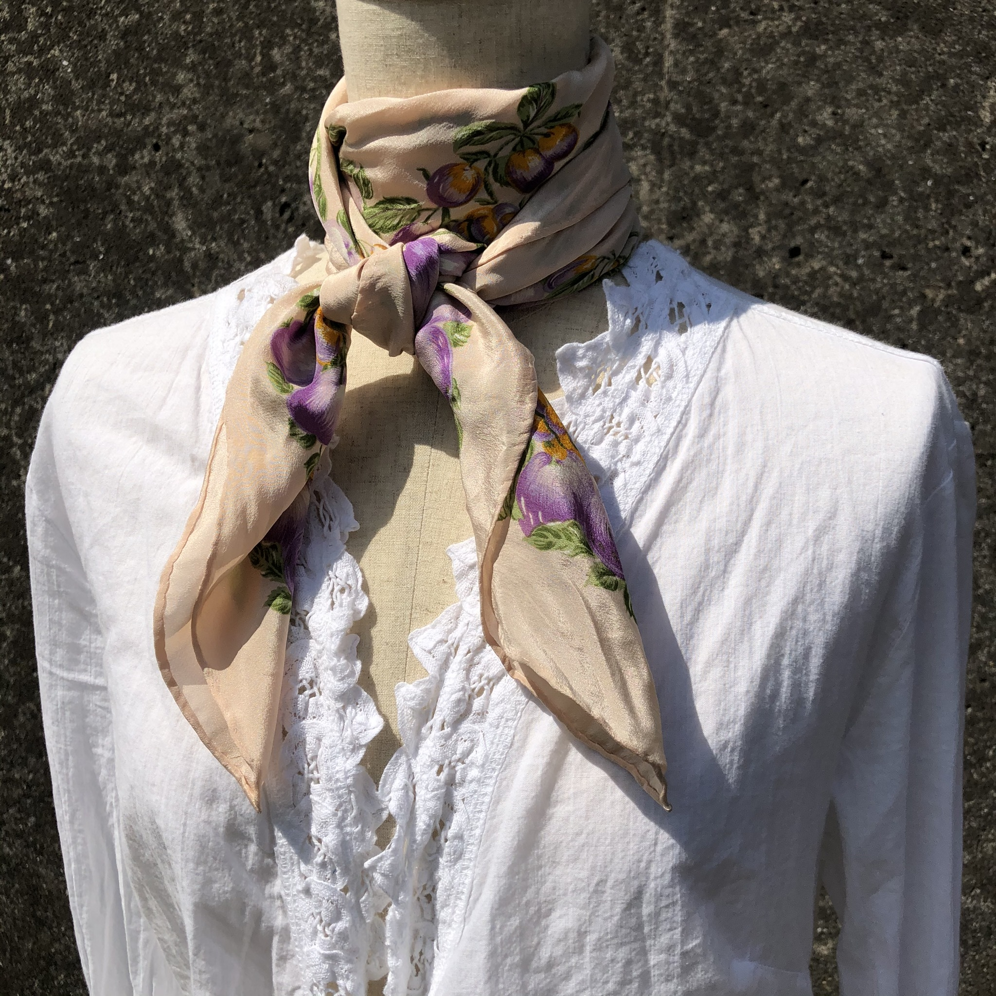 fruit printed scarf