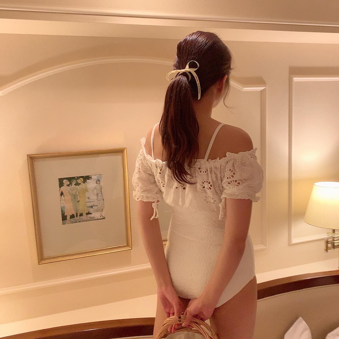 【LAST1】flower cotton monokini