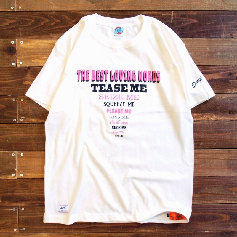 "【DARGO】""LOVING WORDS"" T-shirt (NATURAL)"