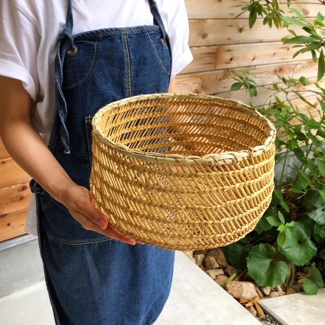 水草 透かし編みバスケット Large(かご・収納)