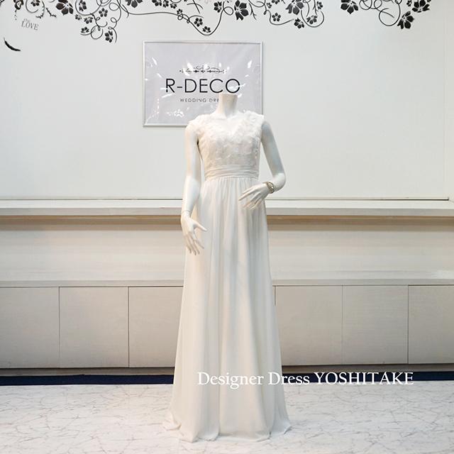 【オーダー制作】ウエディングドレス(パニエ無料 ) スレンダー白ドレス/レース 二次会/前撮り ※制作期間3週間から6週間