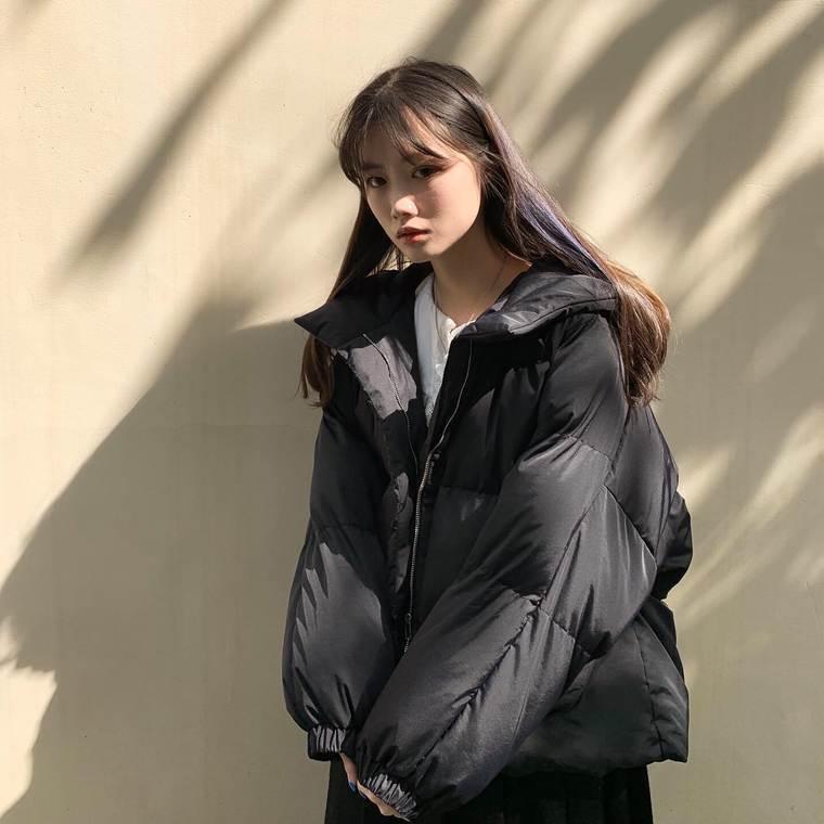 【送料無料】 女っぽダウン♡ ドロップショルダー フード付き プルオーバー ダウンジャケット コート アウター