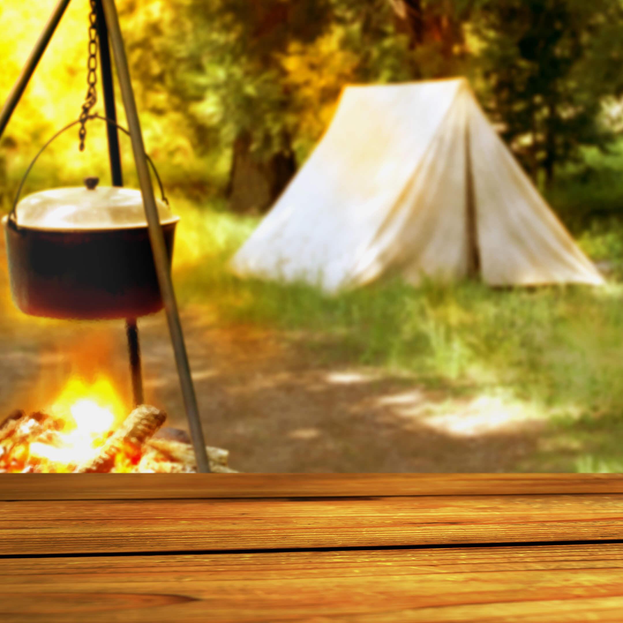 Ca_三角テントのキャンプ