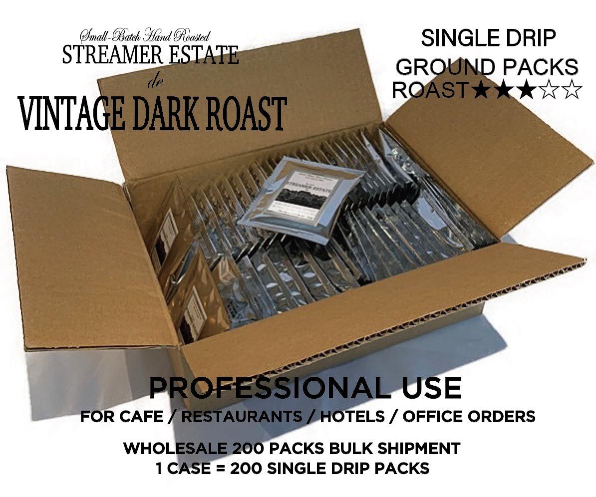 【現在お問合せ対応にて絶賛販売中!】卸売のお取引詳細 VINTAGE DARK ROAST  粉(ヴィンテージダークロースト)ドリップコーヒー