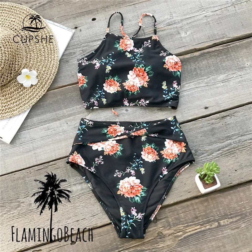 【FlamingoBeach】black flower monokini モノキニ