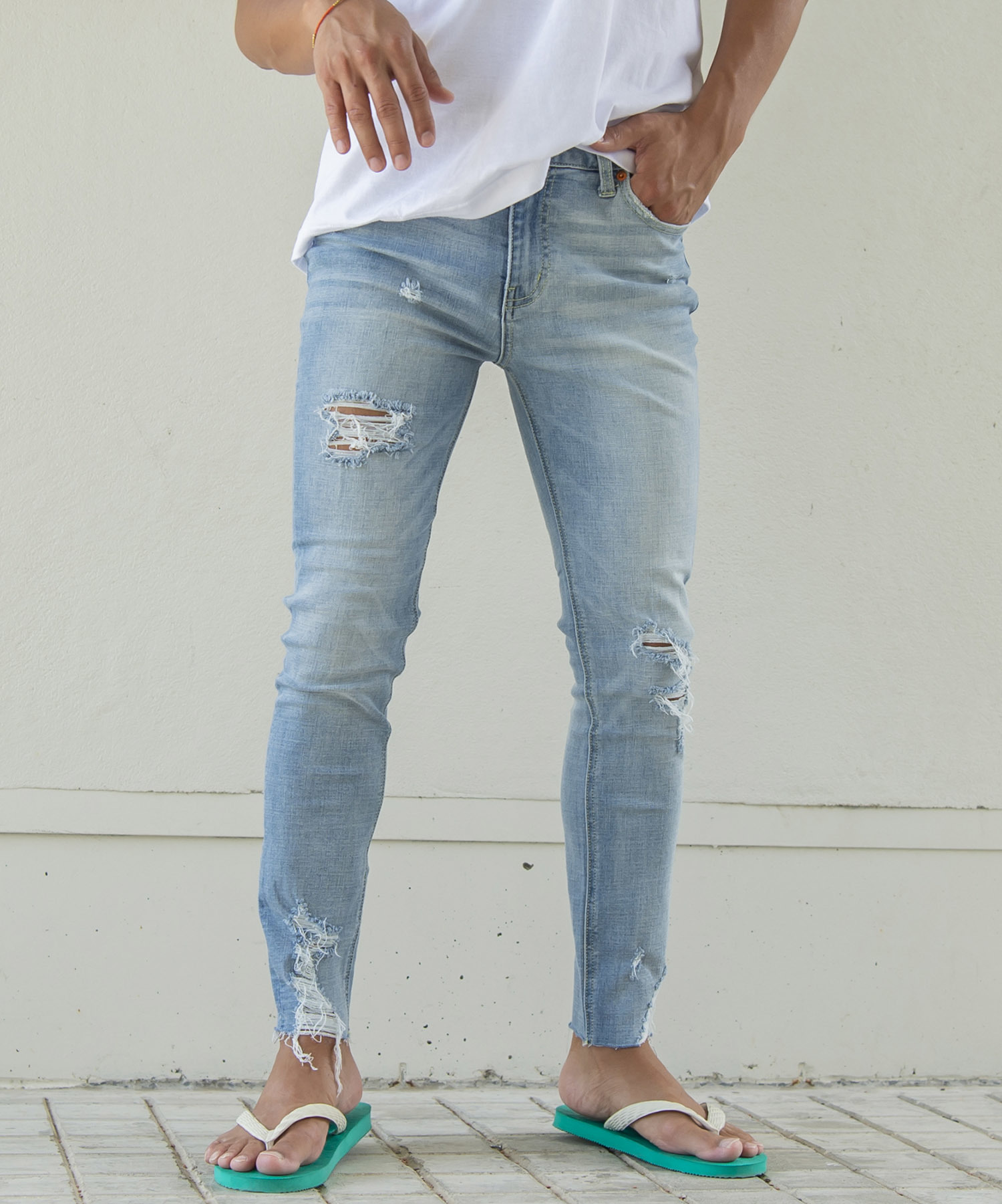 VINTAGE CRUSH SUPER SKINNY DENIM[REP052]