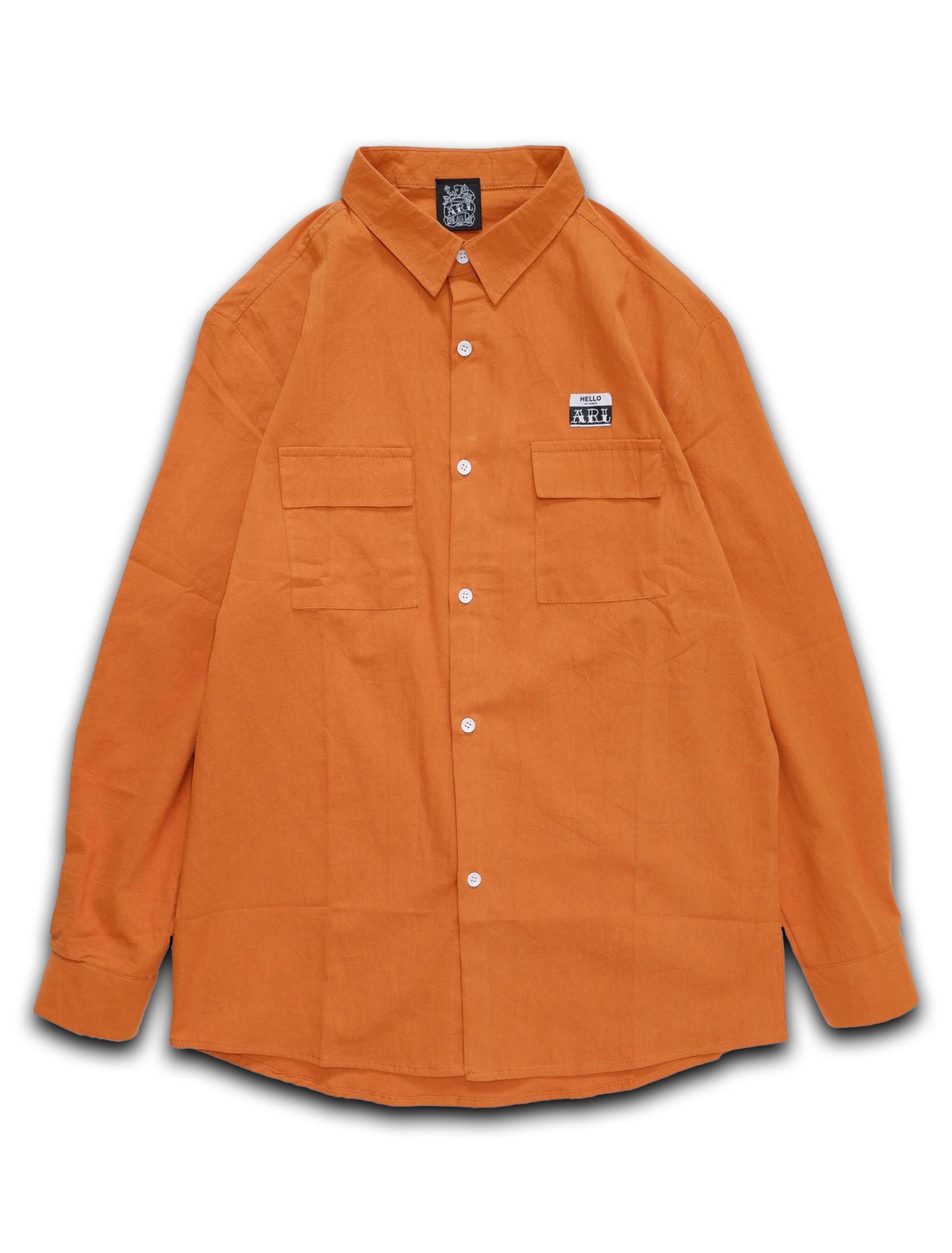 LOGO STICKER SHIRT orange