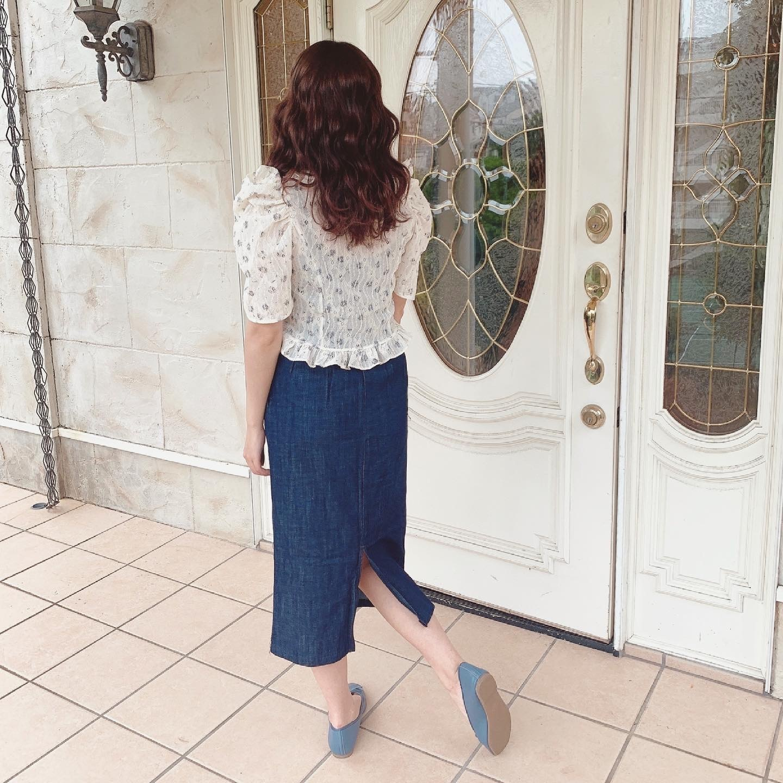 6/11【NEW】straight denim skirt