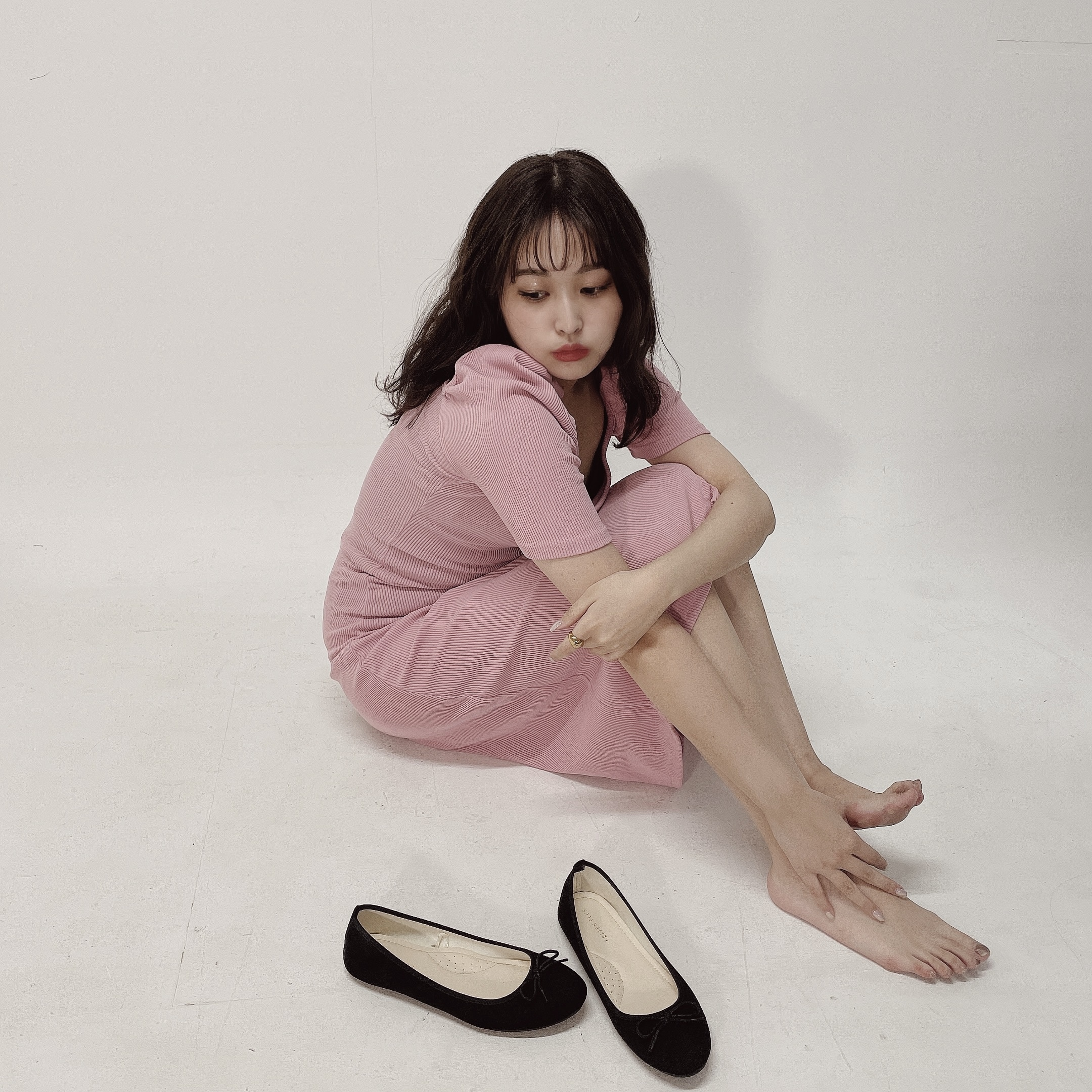 puff long onepiece PINK