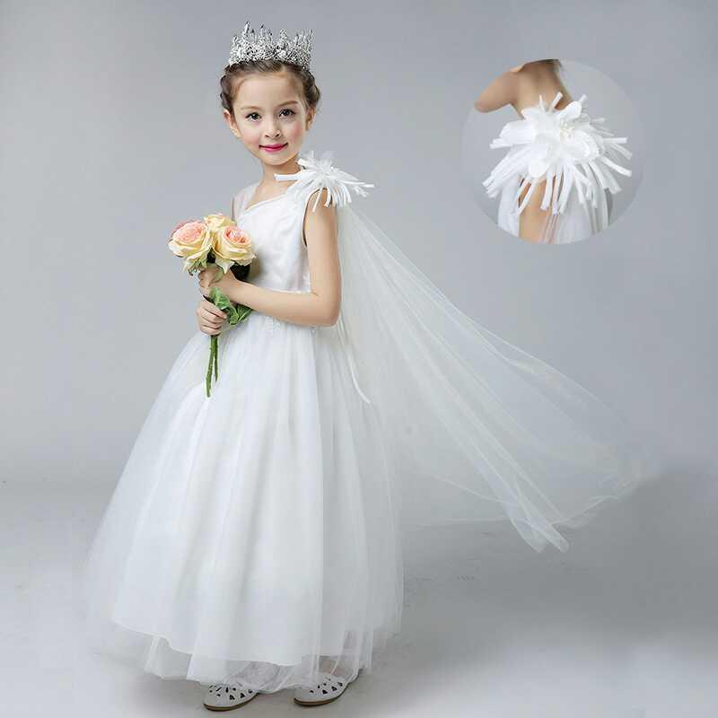 28284a511a642  韓国子供服 ウエディングキッズレースワンピースドレス キッズドレス 女の子 フレアワンピース ロング