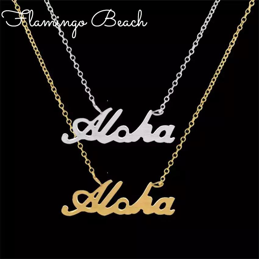 即納 【FlamingoBeach】ALOHA ネックレス