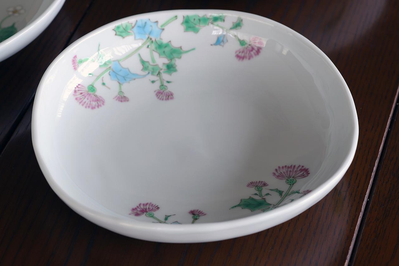 藍水 アザミ 盛鉢 うつわ藍水(波佐見焼)