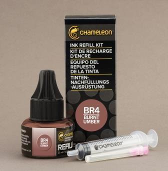 Chameleon Pen Ink Refill 25ml Burnt Umber BR4 (カメレオンペン 詰替え用インク BR4)
