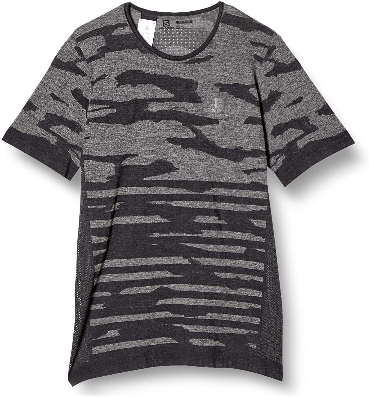Salomon サロモン XA CAMO TEE ASHLEY Black/Heather メンズ XAカモ柄Tシャツ ブラック/ヘザー LC1540700【Tシャツ】
