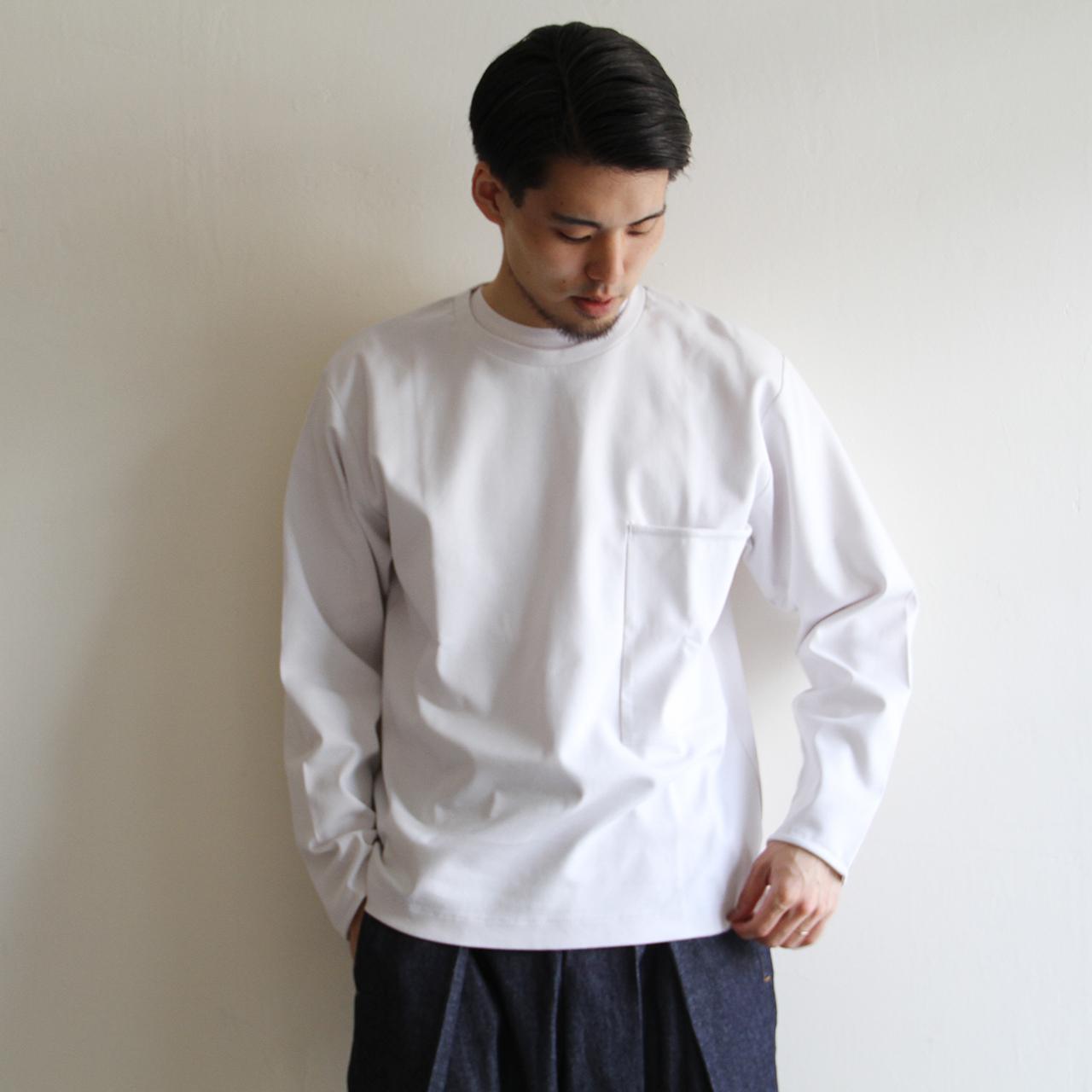 STILL BY HAND  【 mens 】big pocket crew neck