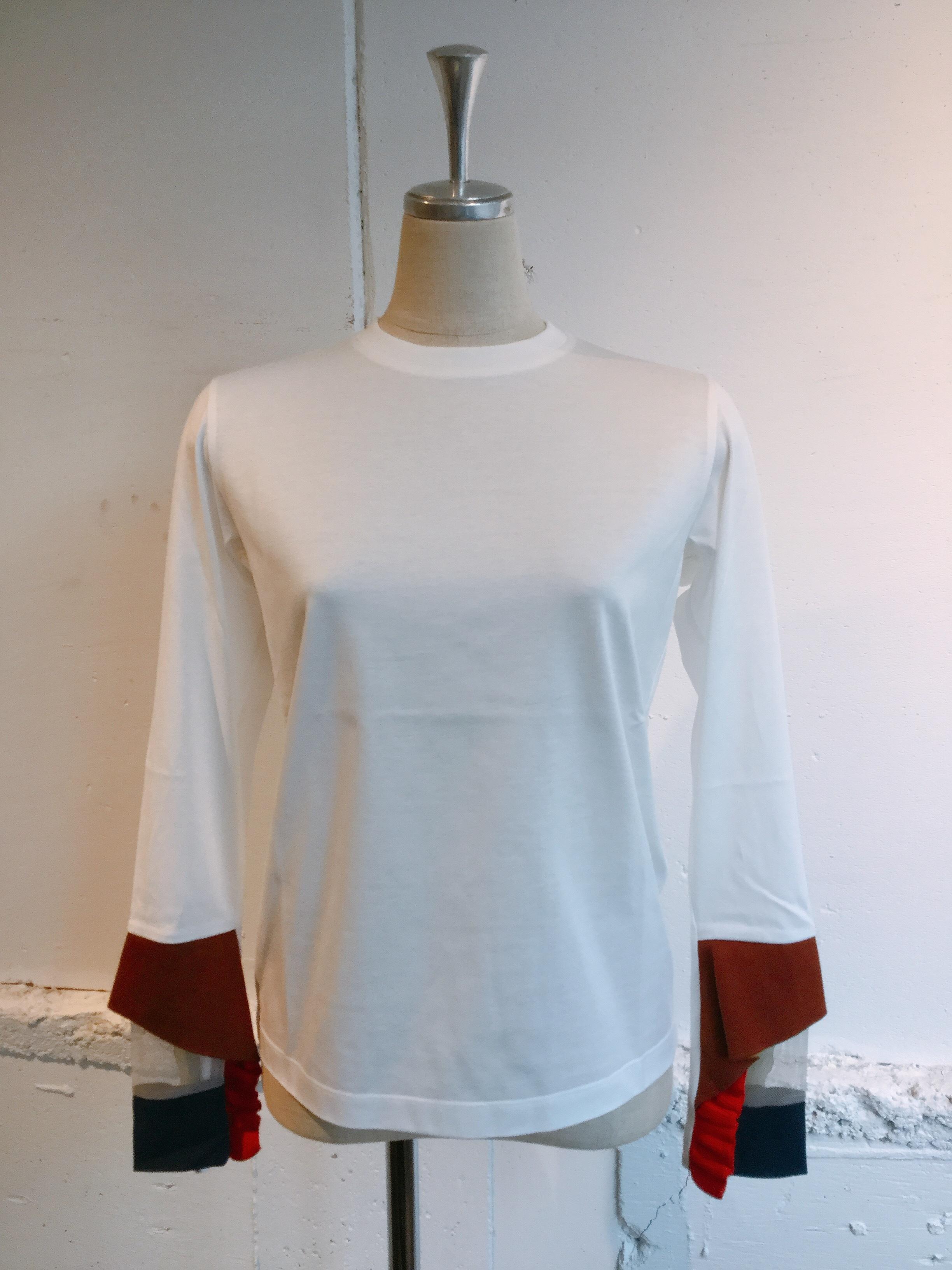 NAIFE Cuff long T-shirts (White)