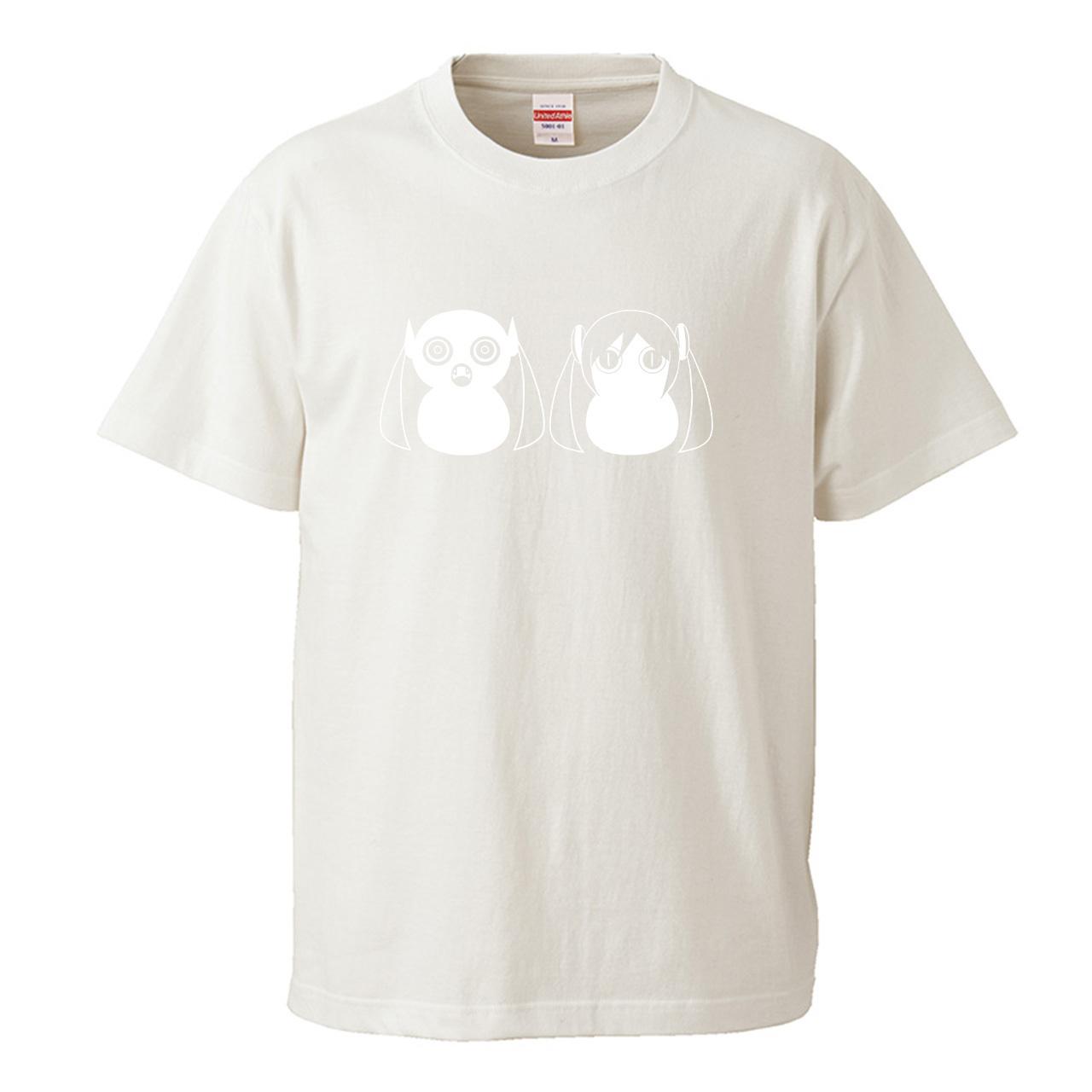 【受注生産再販】ピノキオピー - 八八 -パチパチ-  Tシャツ(バニラホワイト)+ステッカーセット - 画像1