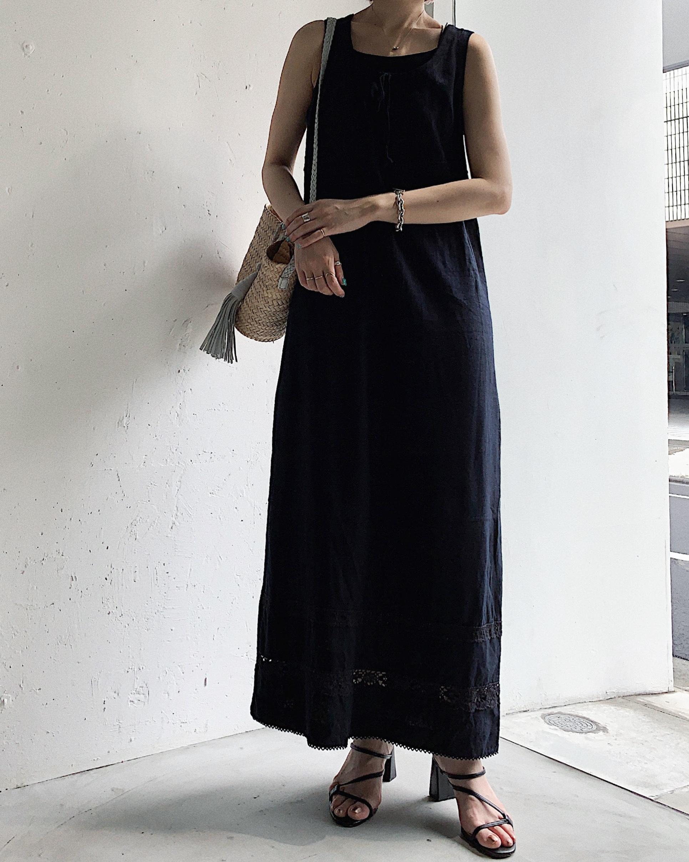 vintage black maxi dress