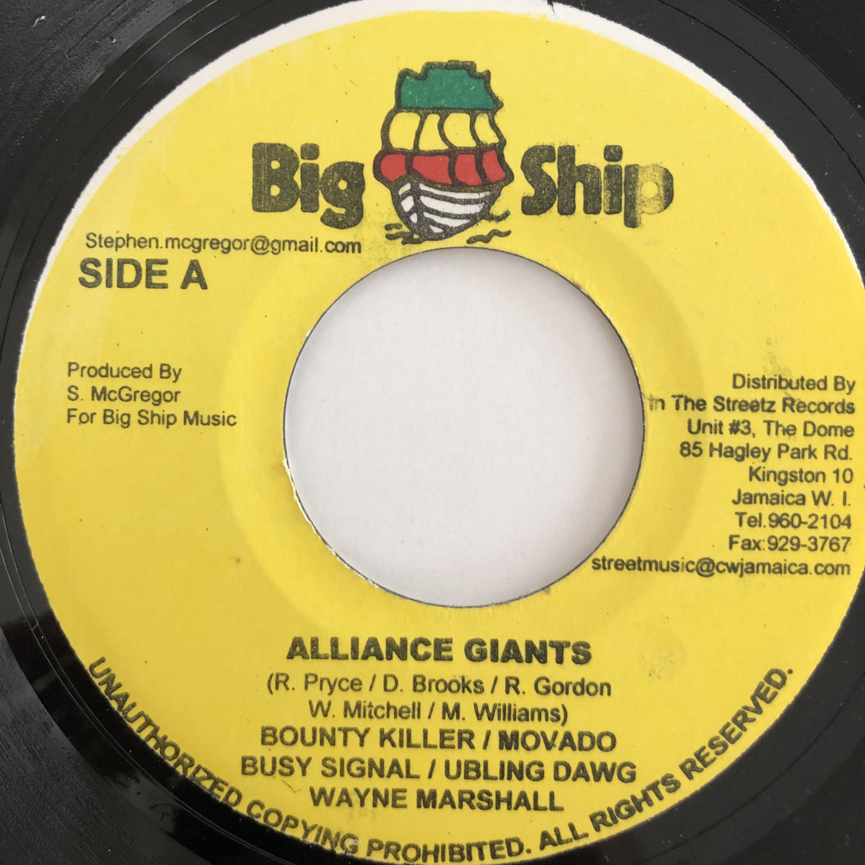 Bounty Killer, Mavado, Busy Signal, Bling Dawg - Alliance Giants【7-20119】