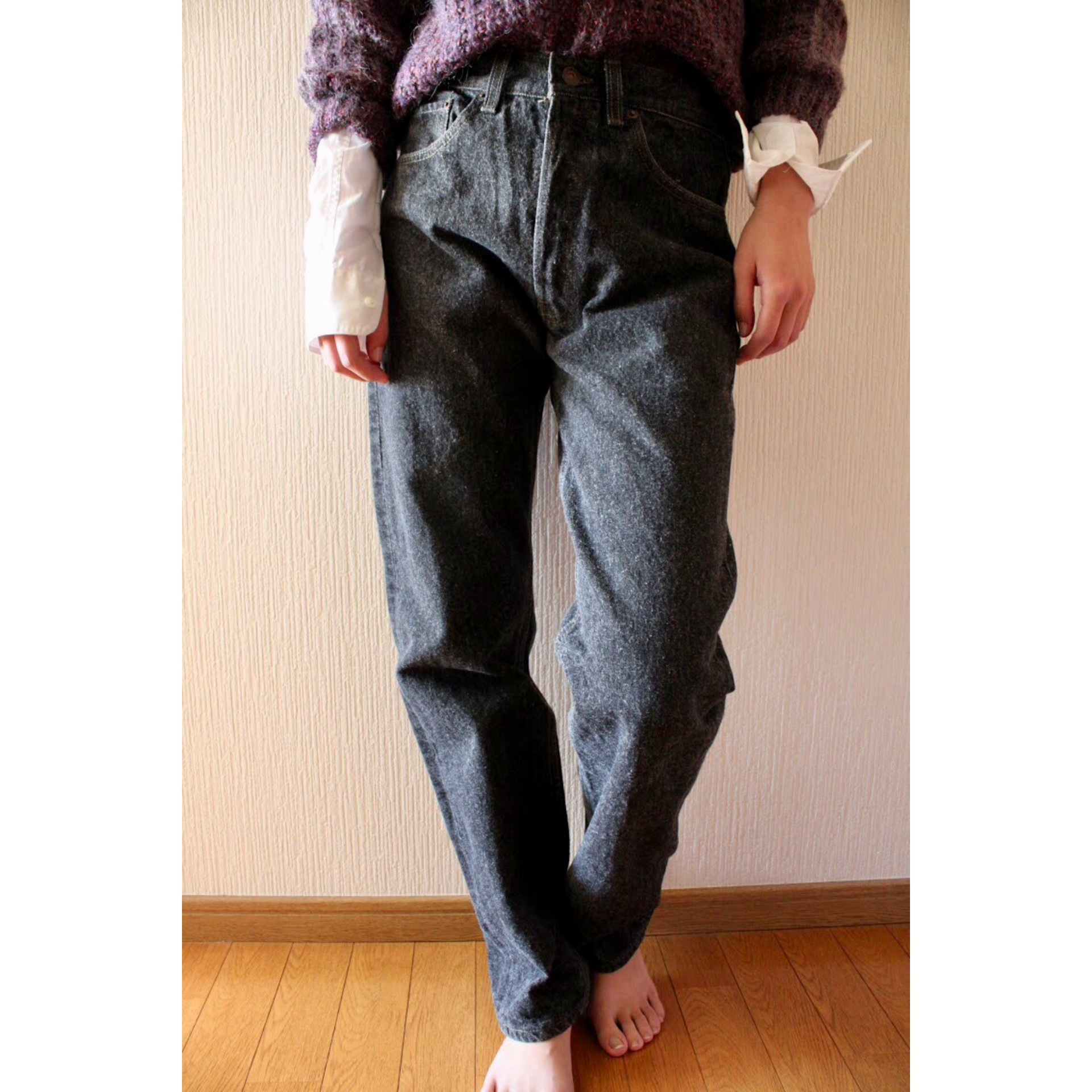 Vintage Levis 501 black denim pants