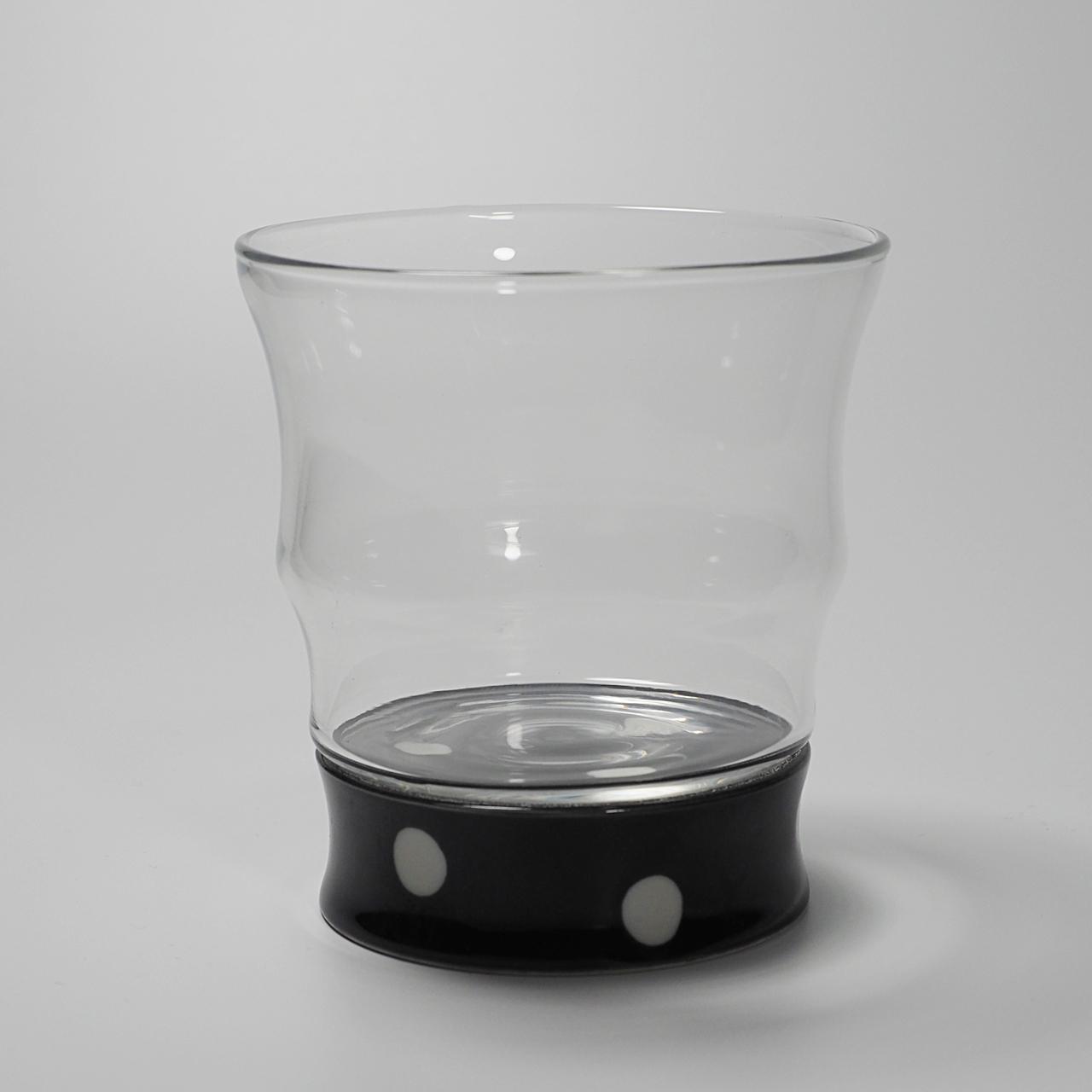 ロックグラス (水玉黒) 20-309